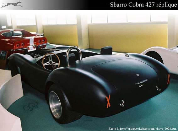 sbarro cobra r plique 1973. Black Bedroom Furniture Sets. Home Design Ideas